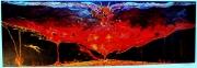 tableau autres lave incandescent couleurs volcan : Implosion