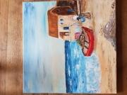 tableau paysages plage vacances paysages bleu : Plage