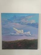 tableau paysages le nuage rose : Nuage