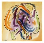 tableau nus nus aquarelles encre de chine : DEUX NUS DE DOS