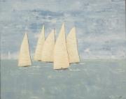 tableau marine regate bateaux bretagne mer : Régate à Pornichet