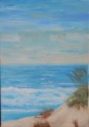 tableau marine mer dune ocean bleu : Lacanau
