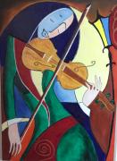 tableau personnages musique : la violoniste