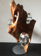 sculpture abstrait bougeoirs : lumière vive