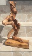 "sculpture abstrait bois flotte sylvisculpture mythologie : ""Marathon"""
