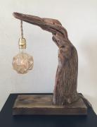 sculpture bois flotte lampe decoration interieure : lampe en bois flotté 2