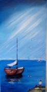 tableau marine souvenir enfance mer : le ponton