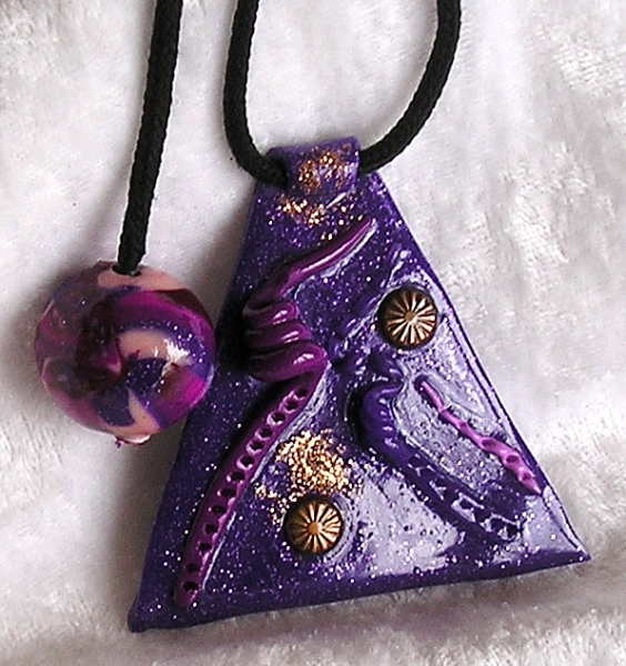 ARTISANAT D'ART pendentif artisanal authentique artisanat d'art  - pendentif