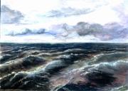 tableau paysages drouot aquarelle pigment fins qualite : 1 tempête a 09