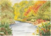 tableau paysages aquarelle originale certifiee authentiqu qualite : paysage 6