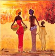 tableau personnages afrique personnages qualite acrylique : afrique 1 2010