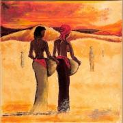 tableau personnages afrique qualite drouot couleurs : afrique  2 2010
