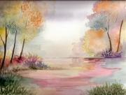 tableau paysages qualite authentique signee cotation drouot : aquarelle