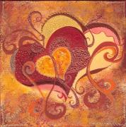 tableau autres coeur fete des meres cadeau oeuvre d art : coeur 3 2010