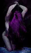 art numerique nus erotisme femme bdsm soumise : Violette entravée