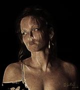 art numerique nus erotisme femme bdsm beaute : Soumise Dahlia