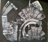 Composition Blanc sur noir n°2