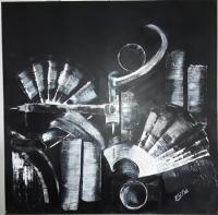 Composition Blanc sur noir n°1