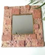 deco design miroir romantique mineral shabby : Miroir saumon