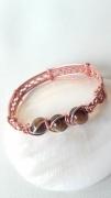 bijoux bijoux bracelet mineral cuivre : Bracelet oeil de tigre