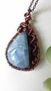bijoux bijoux pendentifs pierre fine mineral : Pendentif calcite bleue