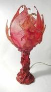 deco design lampe papier mache toile de verre florale : Lampe Fior