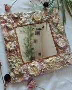 deco design miroir romantique foral shabby : Miroir rococo