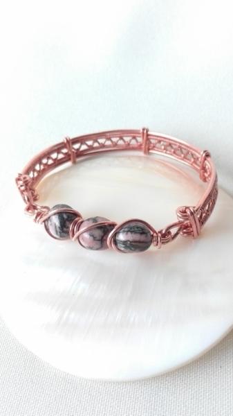 BIJOUX Bijoux Romantique Minéral Cuivre  - Bracelet rhodonite