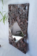 deco design miroir mineral : Miroir noir