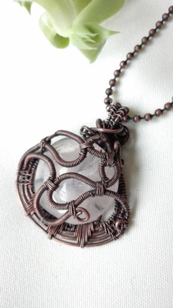BIJOUX  - Pendentif quartz rose