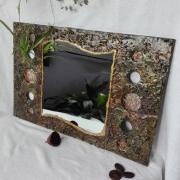deco design miroir nature mineral : Miroir brun