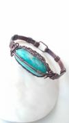 bijoux bijoux romantique mineral cuivre : Bracelet amazonite
