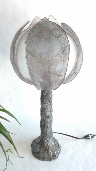 DéCO, DESIGN Lampe Romantique Minéral élégante  - Lampe tortue grise