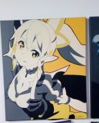 tableau personnages leaffa sao manga bombe toile : Leafa du manga sao