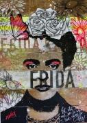 tableau personnages frida kahlo peinture sur bois peinture acrylique frida : Frida la Grande