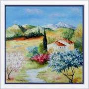 tableau paysages tableau de provence paysage de provence campagne oliviers peintre de provence : Au bonheur du jour