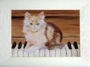 tableau animaux tableaux de provence chat piano tableaux animaux peinture ,a l hu : Chat bada-bada