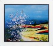 tableau paysages tableaux de provence paysage de provence peintre de provence art en provence : Aurore bleutée