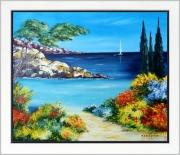 tableau marine tableau de provence marine de provence rochers mer : Un petit rien de vacances