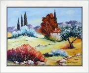 tableau paysages tableau peinture pro paysage de provence peintre de provence art en provence : Invitation au repos