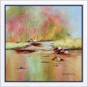 tableau paysages tableau de provence paysage d autom peintre de provence art en provence : Reflets d'automne