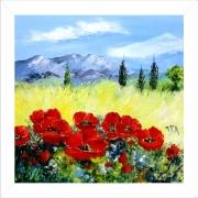 tableau paysages tableau de provence paysage de provence coquelicots campagn peintre de provence : Bouquet campagnard