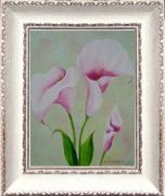 tableau fleurs tableaux de provence fleurs aromes paysage de provence peintres de provence : Trio d'aromes