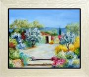 tableau paysages tableaux de provence jardin fleurs caba paysage de provence peintres de provence : Ambiance fleurie