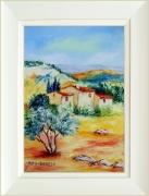tableau paysages tableaux de provence paysage de provence oliviers coquelicot peintres de provence : Plein soleil