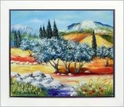 tableau paysages tableau de provence paysage de provence oliviers campagne peintre de provence : Terres de Provence