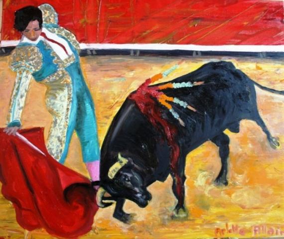 TABLEAU PEINTURE Scène de genre Peinture a l'huile  - faena