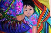 tableau personnages : enfant sous la couverture mexicaine