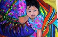enfant sous la couverture mexicaine