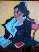 tableau personnages : GAUGUIN Arlesienne au livre